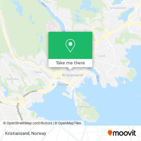 Kristiansand map