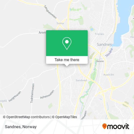 Sandnes map