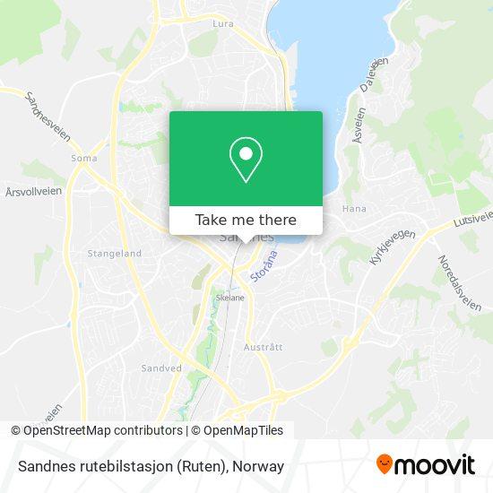 Sandnes rutebilstasjon (Ruten) map