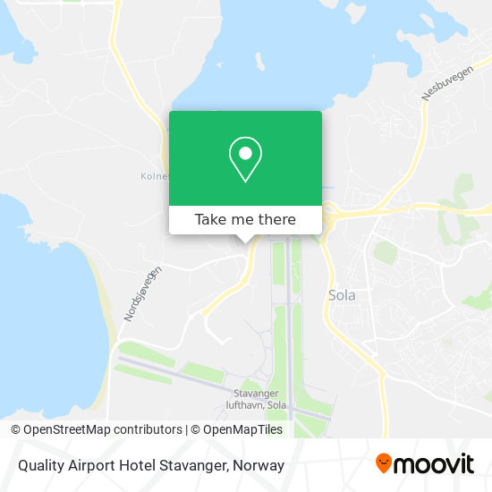 Quality Airport Hotel Stavanger map