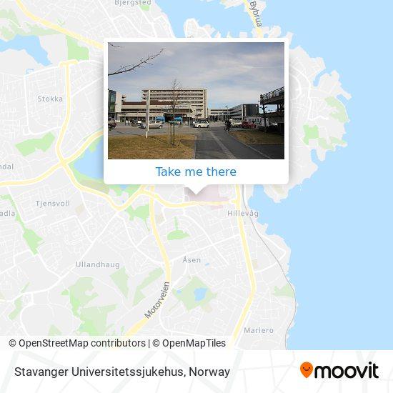 Stavanger Universitetssjukehus map
