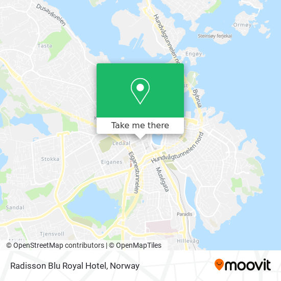 Radisson Blu Royal Hotel map
