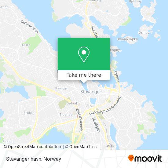 Stavanger havn map
