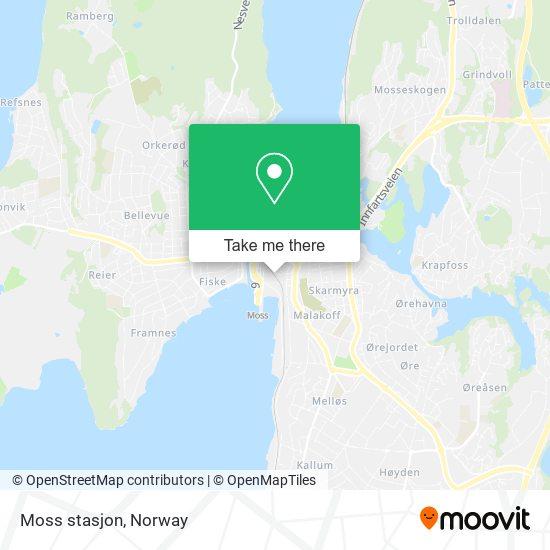 Moss stasjon map