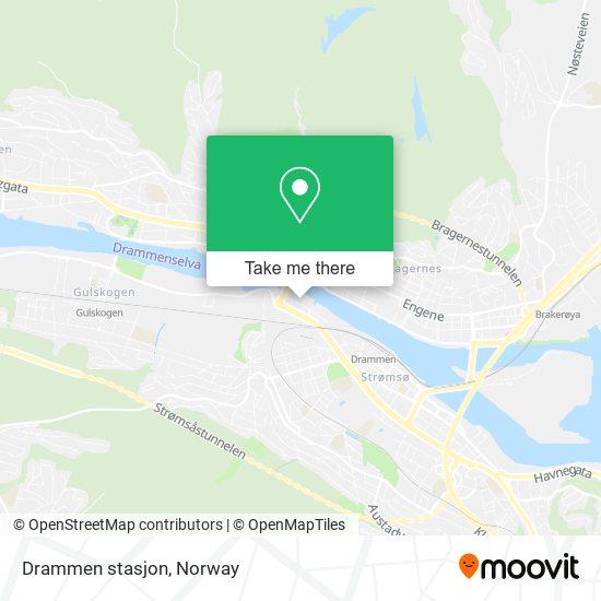 Drammen stasjon map
