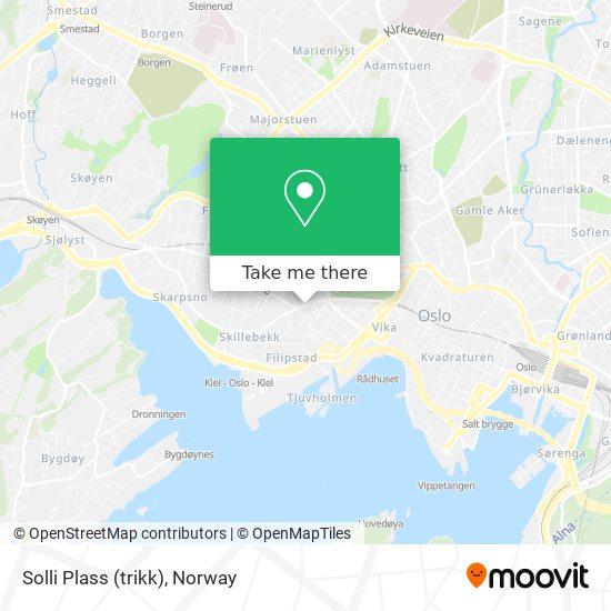 Solli Plass (trikk) map