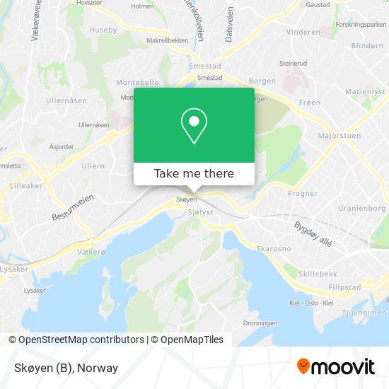 Skøyen (B) map