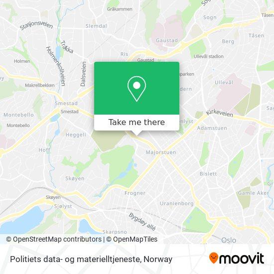 Politiets data- og materielltjeneste map