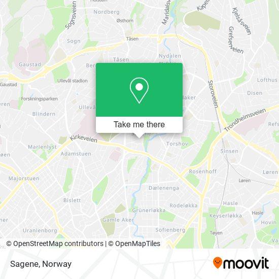Sagene map