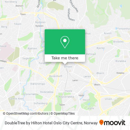 DoubleTree by Hilton Hotel Oslo City Centre map
