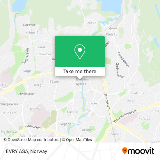 EVRY ASA map