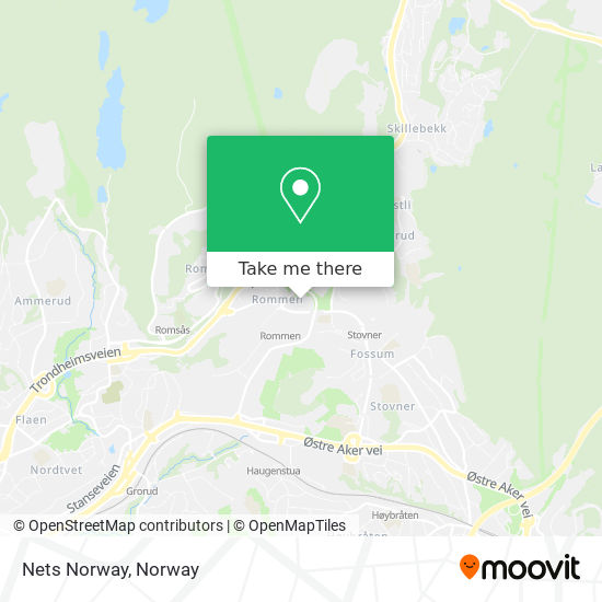 Nets Norway map