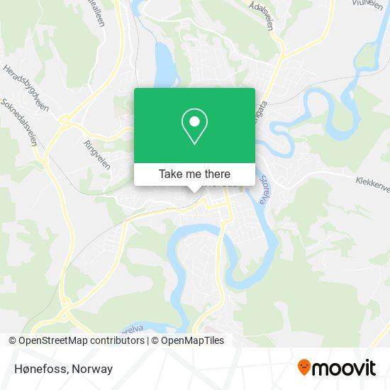 Hønefoss map