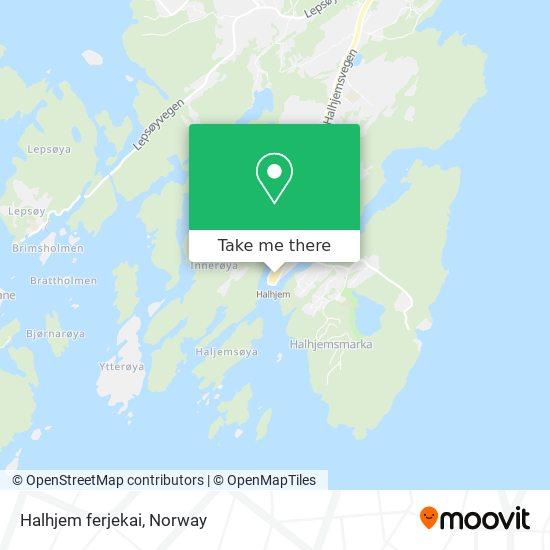 Mapa Halhjem ferjekai