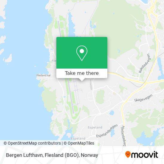 Bergen Lufthavn, Flesland (BGO) map