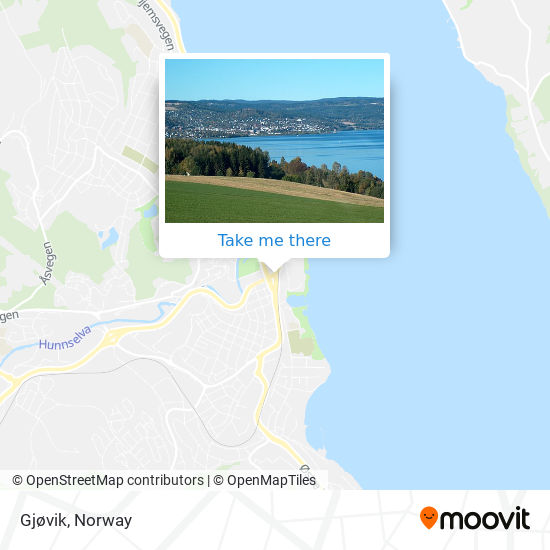 Gjøvik map