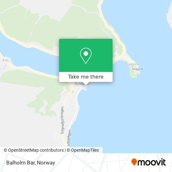 Balholm Bar map