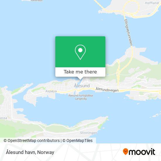 Ålesund havn map