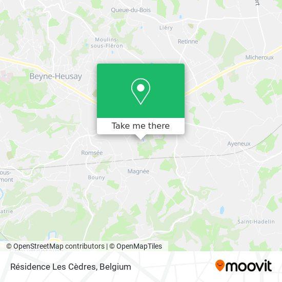 Mapa Résidence Les Cèdres