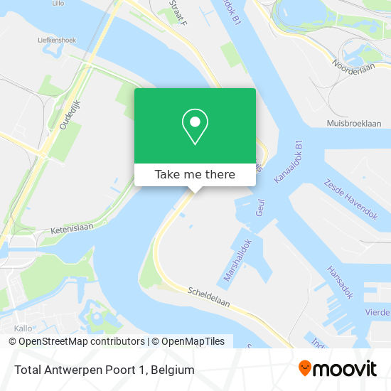 Total Antwerpen Poort 1 map