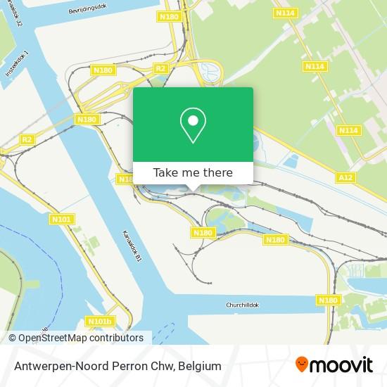 Antwerpen-Noord Perron Chw map