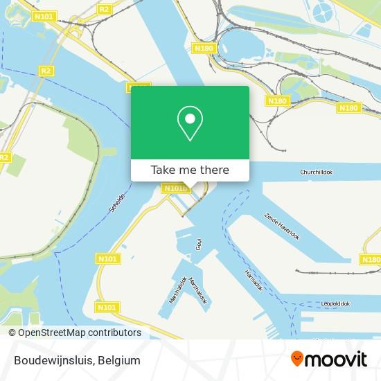 Boudewijnsluis map