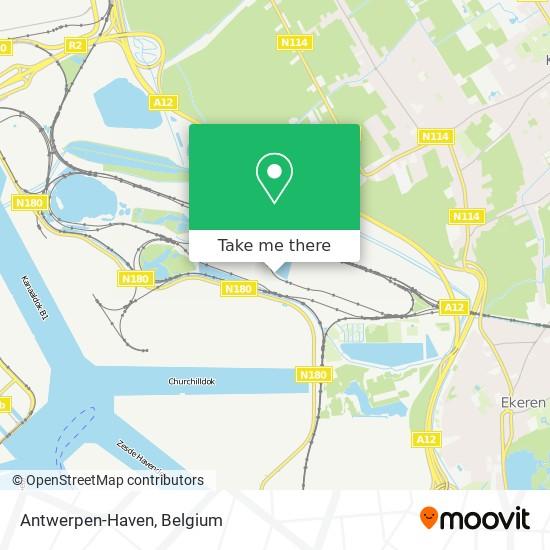 Mapa Antwerpen-Haven