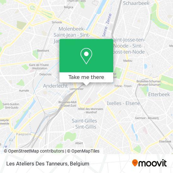 Les Ateliers Des Tanneurs map
