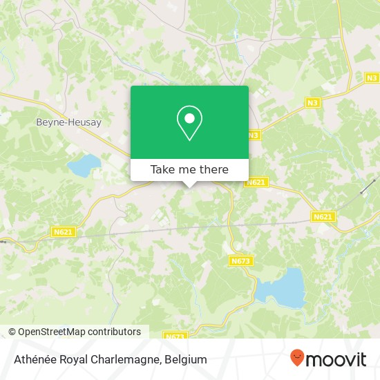 Mapa Athénée Royal Charlemagne