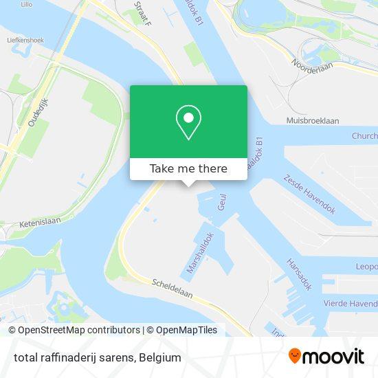 Mapa total raffinaderij sarens