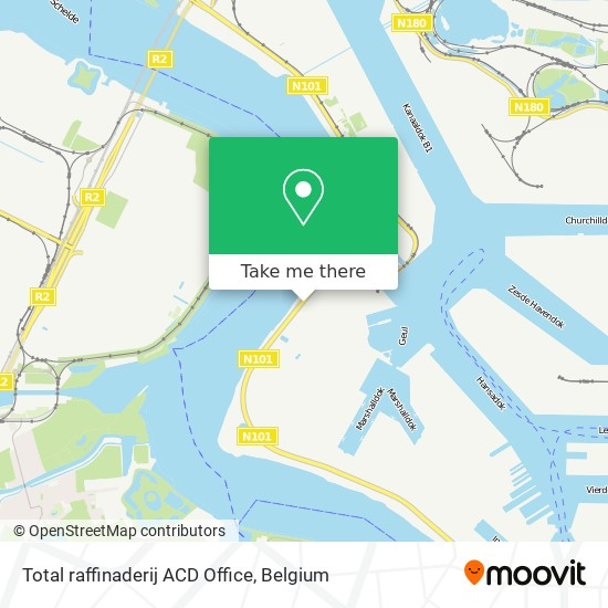 Mapa Total raffinaderij ACD Office