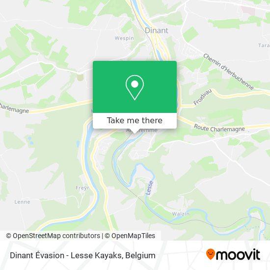 Dinant Évasion - Lesse Kayaks plan