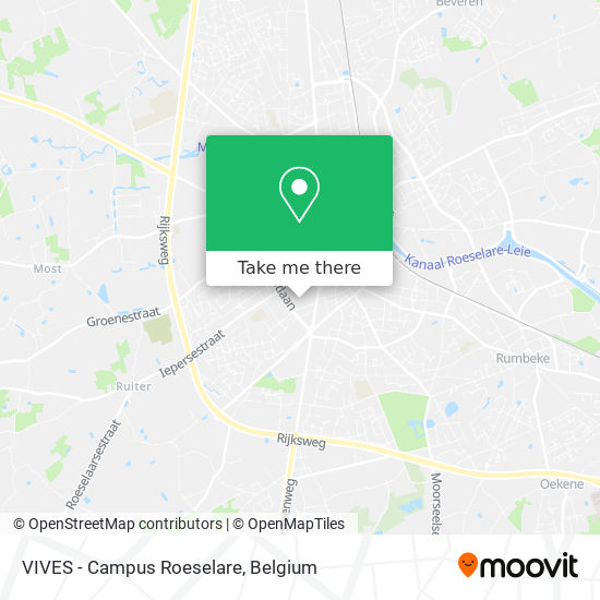 VIVES - Campus Roeselare map