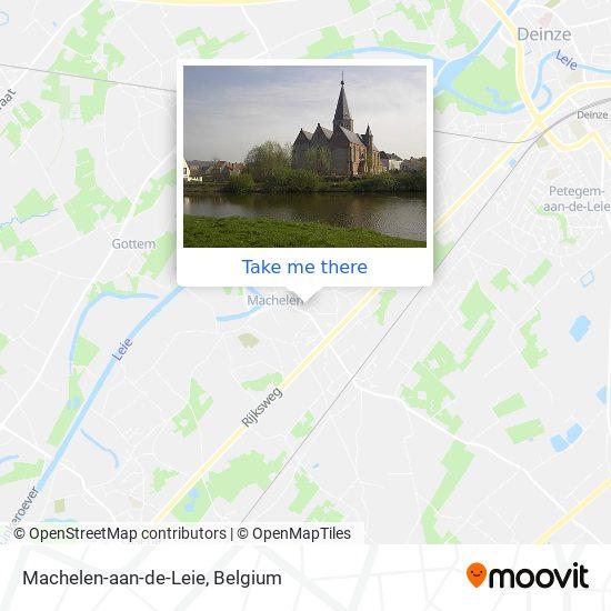 Machelen-aan-de-Leie Karte