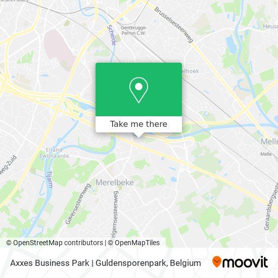 Axxes Business Park | Guldensporenpark Karte