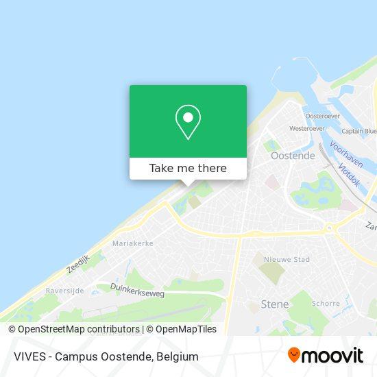 VIVES - Campus Oostende map