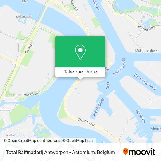 Mapa Total Raffinaderij Antwerpen - Actemium