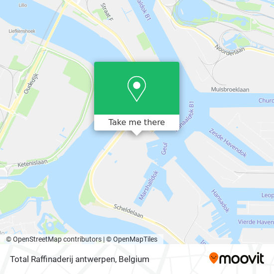 Mapa Total Raffinaderij antwerpen