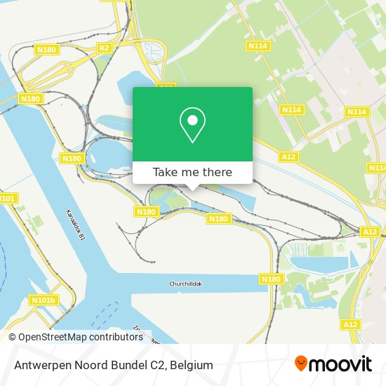 Antwerpen Noord Bundel C2 Karte