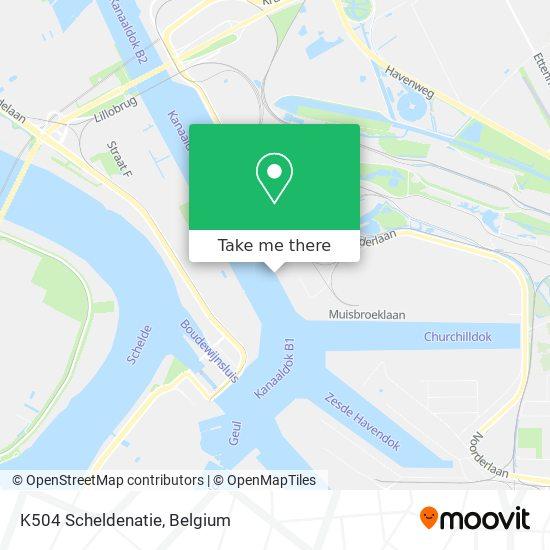 Mapa K504 Scheldenatie