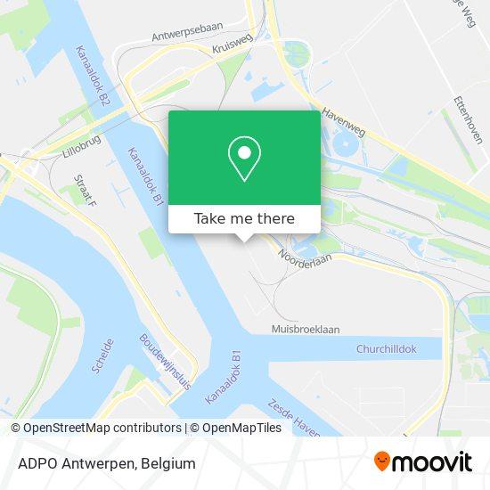 ADPO Antwerpen Karte
