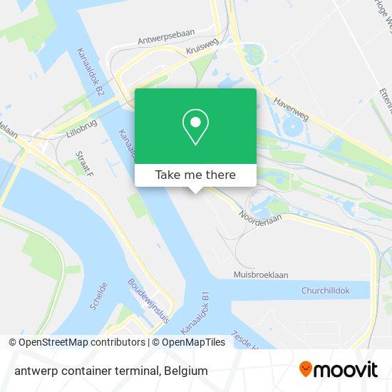 antwerp container terminal Karte