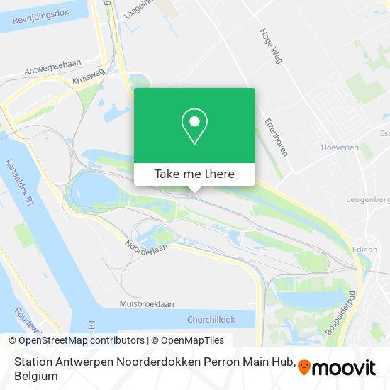 Station Antwerpen Noorderdokken Perron Main Hub Karte