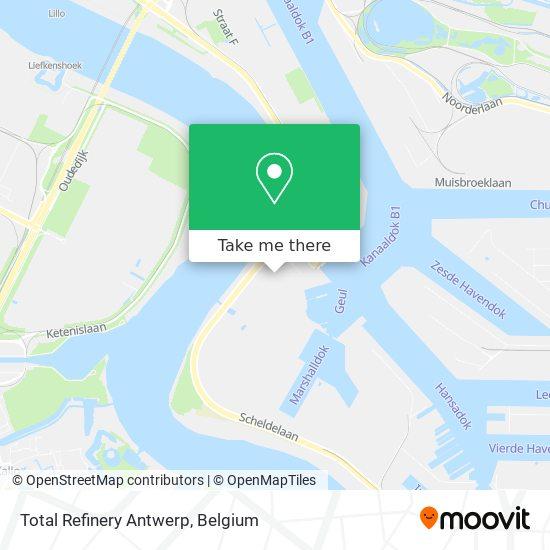 Mapa Total Refinery Antwerp