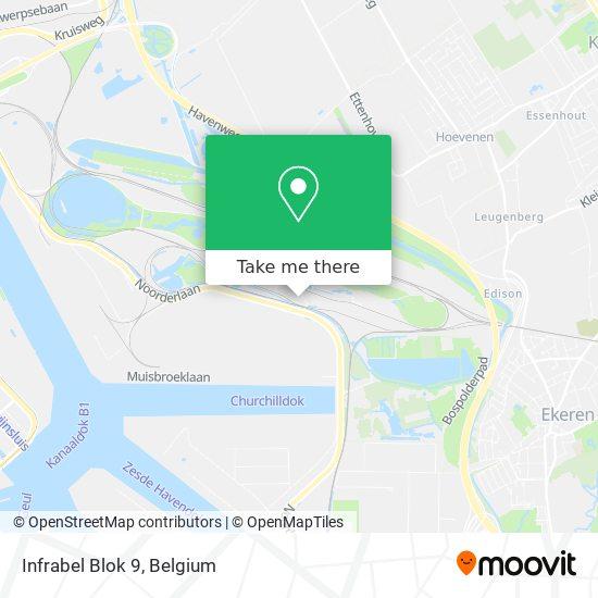 Mapa Infrabel Blok 9