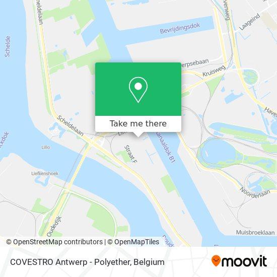 COVESTRO Antwerp - Polyether Karte