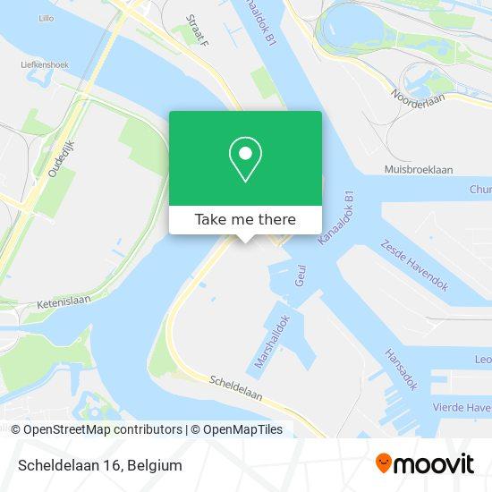 Mapa Scheldelaan 16