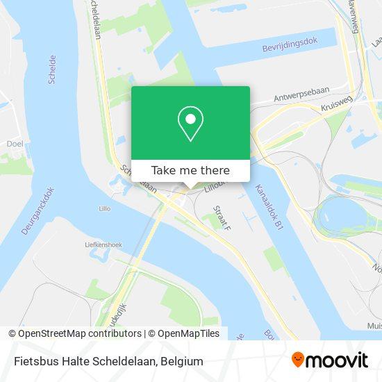 Fietsbus Halte Scheldelaan Karte