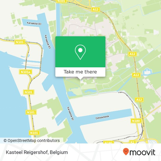 Kasteel Reigershof plan