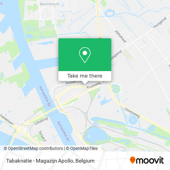Tabaknatie - Magazijn Apollo map
